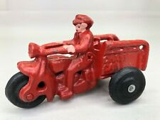 Vintage Cast Iron Toy Crash Car 3 Wheel Motorcycle Reproduction