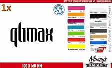 Qlimax 100 x 168mm Adesivo, Adesivo, Decal, autocollant, étiquette hard style
