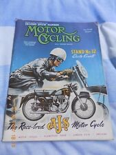 Motor Cycling/Second Show Number/G45/Dot/Norton/AJS 7R/DMW/Ariel/A.J.S. Cover