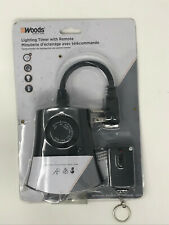 Woods 59746wd 24 Hour Automatic Photocell Remote Control Timer With 3 Grounded