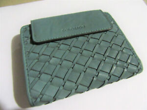 Colorado genuine leather wallet Ladies Jade Teal woven purse NEW in store now.