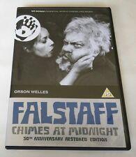 "Falstaff Chimes at Midnight DVD ""50TH ANNIVERSARY RESTORED EDITION""  **RARE**"