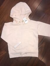 NWT 4-5 Yr Crewcuts J Crew Blush Momo Pocket Hoodie Sweatshirt Top Girls' Soft