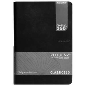Zequenz Notebook Classic 360 Signature A6, Squared, Black (360-SNJ-A6-CS-BKG)