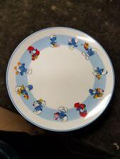 "Vintage 1982 Wallace Berrie 7-1/2"" Smurfs Ceramic Collectables Porcelain Plate"