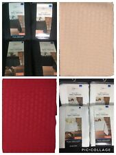 Mainstays Tablecloths RED, WHITE, TAN or BLACK Multiple Sizes NEW