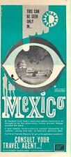"1962 Mexico Government Tourism PRINT AD El Caracol ('The Snail"") at Chihen Itza"