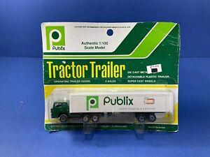Vintage, Publix Supermarket Die-Cast Tractor Trailer Semi, 1/100 Scale, NIP