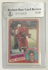(HCW) 1984-85 O-Pee-Chee #67 Steve Yzerman NHL Hockey RC Rookie BGS 7