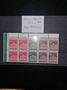 """Berlin Hbl 13 """"Brandenburger Tor"""" mit RLV I , Postfrisch, Bogentrennung"""