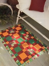Holiday Squares Floor Mat Quilt Pattern Pieced BG