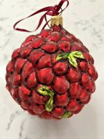 "Vintage CHRISTOPHER RADKO ""Cranberry Frost' "" Forever Style Ornament Gorgeous!"
