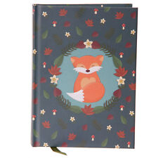 FOX SITTING A6 Hardback Lined Note Book Jotter School Great Gift Notebook