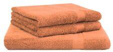 Betz lot de 3 serviettes: 1 serviettes à sauna XXL, 2 de toilette, orange