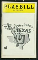 BROADWAY PLAYBILL - Dec 1978 - THE BEST LITTLE WHOREHOUSE IN TEXAS   b2
