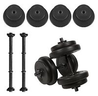 Vinyl Dumbbells Set Gym Free Weights - Home Strength Training Aerobic Barbell