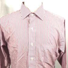 Brooks Brothers Regent Mens Long Sleeve Button Front Dress Shirt Sz 16.5 Striped