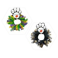 Mirage Pet Products Mardi Gras Smoocher Dog Collar Holiday Decorative S M L XL