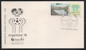 SOCCER-COVER-ARGENTINA 1978-SPECIAL CANCELLATION-FIFA-