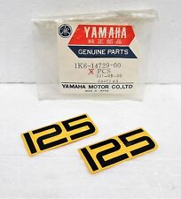 Genuine Yamaha 77-78 YZ125 OEM (2) Left Right Side Cover Decals Protector Emblem