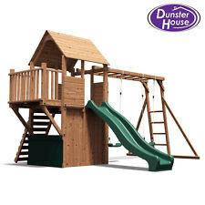Climbing Frame Playhouse Childrens Swing Set Slide Kid Monkey Bars - BalconyFort