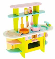 GIRL KID WOODEN PLAY KITCHEN COOKER CHILDREN ROLE PRETEND SET TOY BOY CAFE TABLE