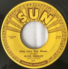 SUN 217 Elvis Presley Baby Let's Play House / Left Right Gone 45 VG DELTA PRESS