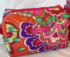 Vera Bradley Small Puffy Cosmetic Pink Swirls, Makeup Bag, PACKAGED, NWT