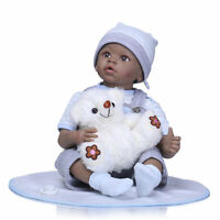 "Biracial 22"" Reborn Baby Doll African American Boy Girl Look Real Newborn Size"