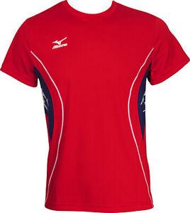 Mizuno Team Short Sleeve Mens Running Top - Red