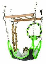 Suspension Bridge Wooden Ladder Hamster Mouse Small Animal Toy Play New