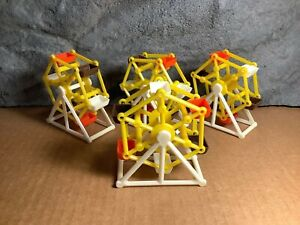 4 Lot | Ferris Wheel Parakeet Toy/Treat Holder | Old Stock | White and Yellow