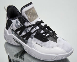 Jordan Westbrook One Take II Men's White Black Grey Basketball Sneakers Shoes