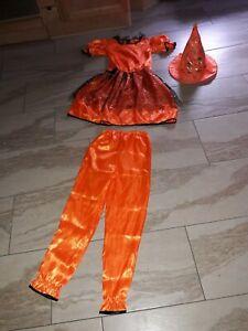 Karneval Kostüm ZAUBERER mit Hut 7- 10 Jahre Gr.M