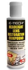 E-Tech Faros Lámparas Luces Traseras & una claridad Lente restauración compuesto de cera