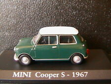 MINI COOPER S 1967 DARK GREEN RBA COLLECTABLES 1/43 WITH WHITE ROOF RHD RIGHT