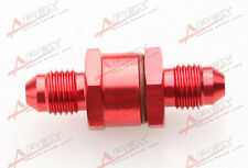 3AN Male To 3AN Male 30 Micron High Flow Billet Turbo Oil Feed Line Filter Red