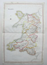 WALES 1831 Large Antique Map Murray Genuine Hand Colouring