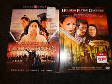 LEGEND OF THE BLACK SCORPION & HOUSE OF FLYING DAGGERS-2 dvds-ZIYI ZHANG kungfu