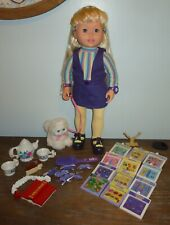"""2001 Amazing Ally & Her Kitty Cat 18"""" Interactive Doll Toy w/ Accessories Clean!"""