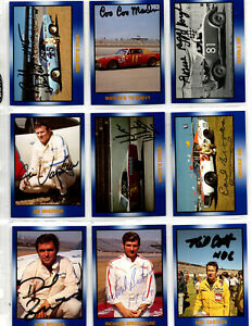 NASCAR TG Masters of Racing original hand signed autographed 36 card collection