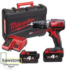 Milwaukee M18BPD-402C 18 Volt Combi Hammer Drill 2 x 4.0Ah Batts, Charger & Case
