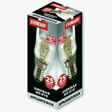 Eveready 220-240V 25w 300°C Oven Kitchen Appliance Lamp SES E14 Bulb Pygmy (E)