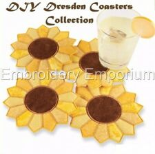 Diy Dresden Coasters Collection - Machine Embroidery Designs On Cd Or Usb