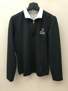 "Fairway & Greene Medium Black Qtr Zip ""The Old Course St Andrews Links"" Jacket"