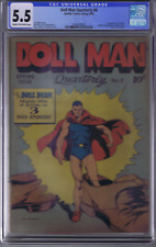 Doll Man #8 Quality Pub 1946 1st appearance Torchy CGC 5.5 (FINE -)