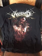 OFFICIAL VINTAGE ABORTED T-SHIRT XL SIZE PRE-OWNED PERFECT CONDITION GORE-GRIND