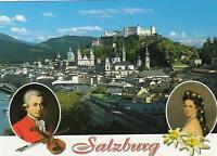 MOZART and KAISERIN ELISABETH POSTCARD - STUNNING SALZBURG POSTCARD