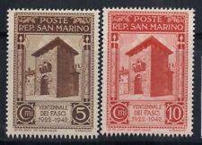 San Marino 1943 Sass. 240-241 Nuovo ** 100% 5 cent., 10 c, Fascismo
