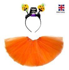 PUMPKIN TUTU COSTUME Kids Toddler Ladies Halloween Jack O Fancy Dress Outfit UK